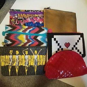 Handbags - Bundle of 6 Ipsy cosmetic Bags
